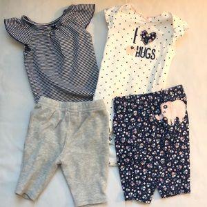 Newborn onesie outfit